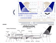 1/144 Scale Decal Continental 737