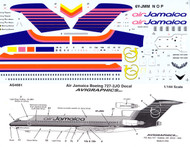 1/144 Scale Decal Air Jamaica 727-200