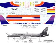 1/144 Scale Decal Air Jamaica A-320