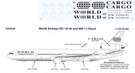 1/144 Scale Decal World Airways DC10-30 / MD-11