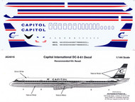 1/144 Scale Decal Capitol International DC8-61