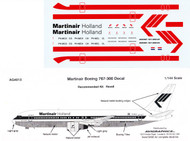 1/144 Scale Decal Martinair 767-300