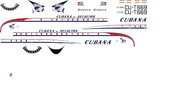1/144 Scale Decal Cubana Britannia