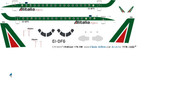 1/144 Scale Decal Alitalia Express EMB-170