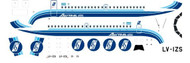 1/144 Scale Decal Austral BAC-111 Blue