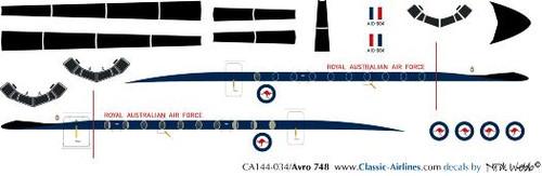 1/144 Scale Decal Australian Air Force HS-748