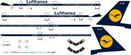 1/144 Scale Decal Lufthansa DC10-30