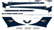 1/144 Scale Decal BOAC Golden Speedbird VC-10