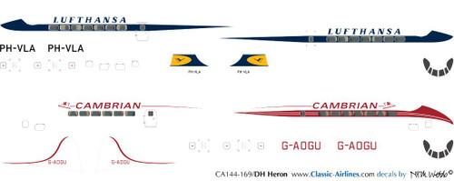 1/144 Scale Decal Lufthansa / Cambrian Heron