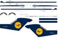 1/144 Scale Decal Lufthansa 727-200