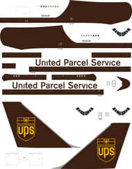 1/144 Scale Decal UPS 747