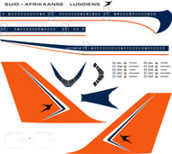 1/144 Scale Decal South African 747 Delivery