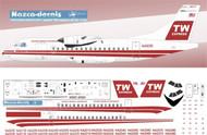 1/144 Scale Decal TWA Express ATR-42