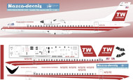 1/144 Scale Decal TW Express ATR-72