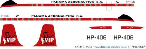 1/144 Scale Decal VIP Panama DC-7