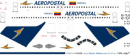 1/144 Scale Decal Aeropostal A-320
