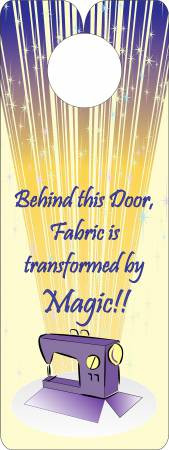 FQG304 Knobie Talk Door Hanger-Magic
