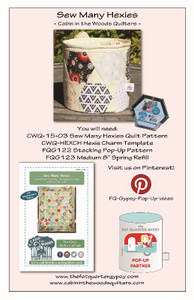 Sew Many Hexies Pop Up Info Sheet