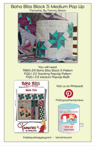 Boho Bliss Block 5 Medium Pop Up Info Sheet