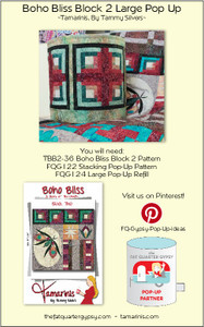 Boho Bliss Block 2 Large Pop Up Info Sheet