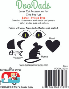 FQGDU201B Cleo Laser Cut Shapes and Pre-Printed Eyes