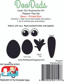 FQGDU201C Hopper Laser Cut Shapes and Pre-Printed Eyes