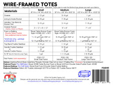 FQG141 Wire-Framed Totes Pattern
