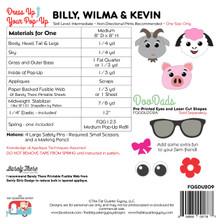 FQGDU209 Billy, Wilma & Kevin Pop Up Kit