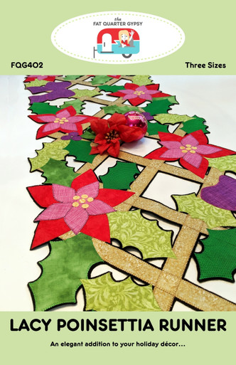 FQG402 Lacy Poinsettia Runner