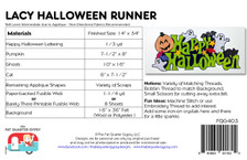 FQG403 Lacy Halloween Runner