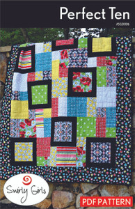 Perfect Ten Quilt Pattern - PDF Printable