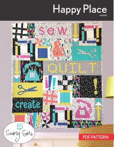 Happy Place Quilt Pattern - PDF Printable
