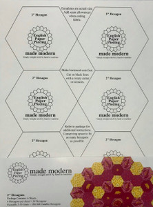 "2"" Self-Stick Hexagon Templates by made modern for English Paper Piecing"