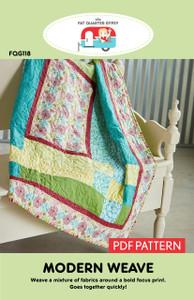 FQG118 Modern Weave PDF Pattern