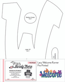 Pre-Printed Barely There for Lacy Welcome Runner as seen on It's Sew Easy TV.