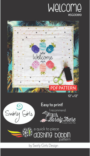 Welcome Wall Hanging Pattern