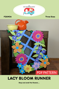 FQG406pdf Lacy Bloom Runner - PDF PRintable