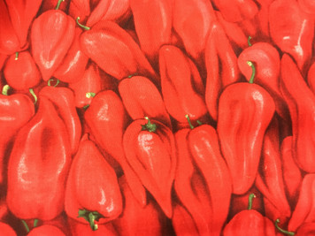 Red Hot Chilis by RJR Fabrics -cut by the yard from the bolt