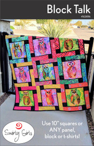 SGD056 Block Talk Quilt Pattern in Majestic Owls by P&B Textile