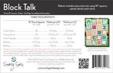 SGD Block Talk Quilt Pattern
