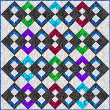 SGD057 Argyle Style Quilt Pattern in Ombre Squares by QT Fabrics