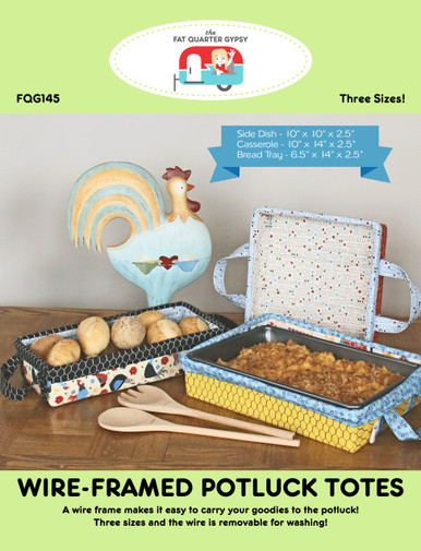 FQG145 Wire-Framed Potluck Totes Pattern