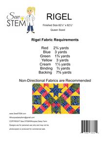 Rigel Quilt Pattern Back