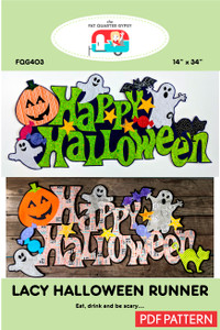 Lacy Halloween Runner - pdf printable