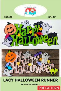 Lacy Halloween Runner - pdf printable