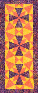 Zenith Table Runner Kit in Purple, Orange and Yellow