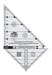 Creative Grids Multi Size Triangle 45 and 90 Degrees Quilt Ruler