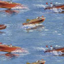 1 yard cut of Classic Boats by Elizabeth's Studio