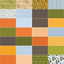 "Let's Go Camping 42 piece -5' x 5"" Charm Pack by Patrick Lose Fabrics"