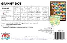 Granny Dot Quilt Kit Pattern Back